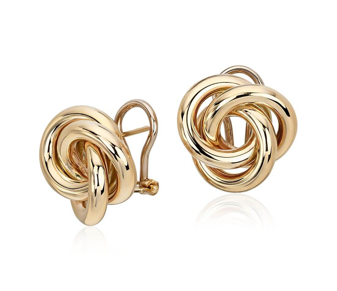 Gold earrings for first anniversary gift
