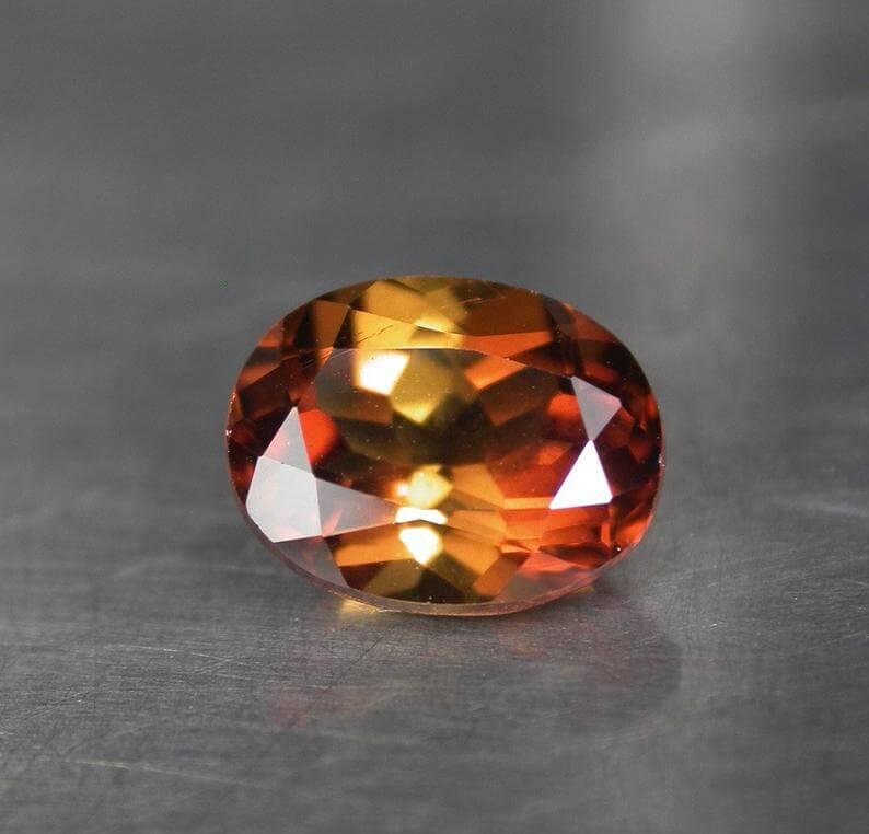 Orange imperial topaz