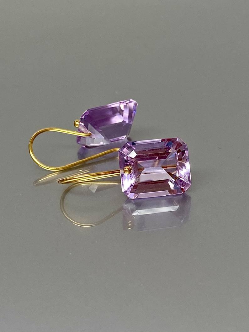 Kunzite earrings