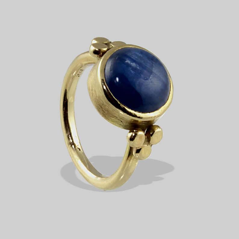 Kyanite engagement ring