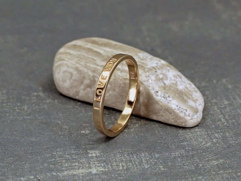 Modern poesy ring