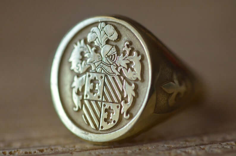Modern replica of signet ring