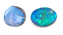Moonstone vs opal side by side