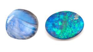 Moonstone vs opal side by side