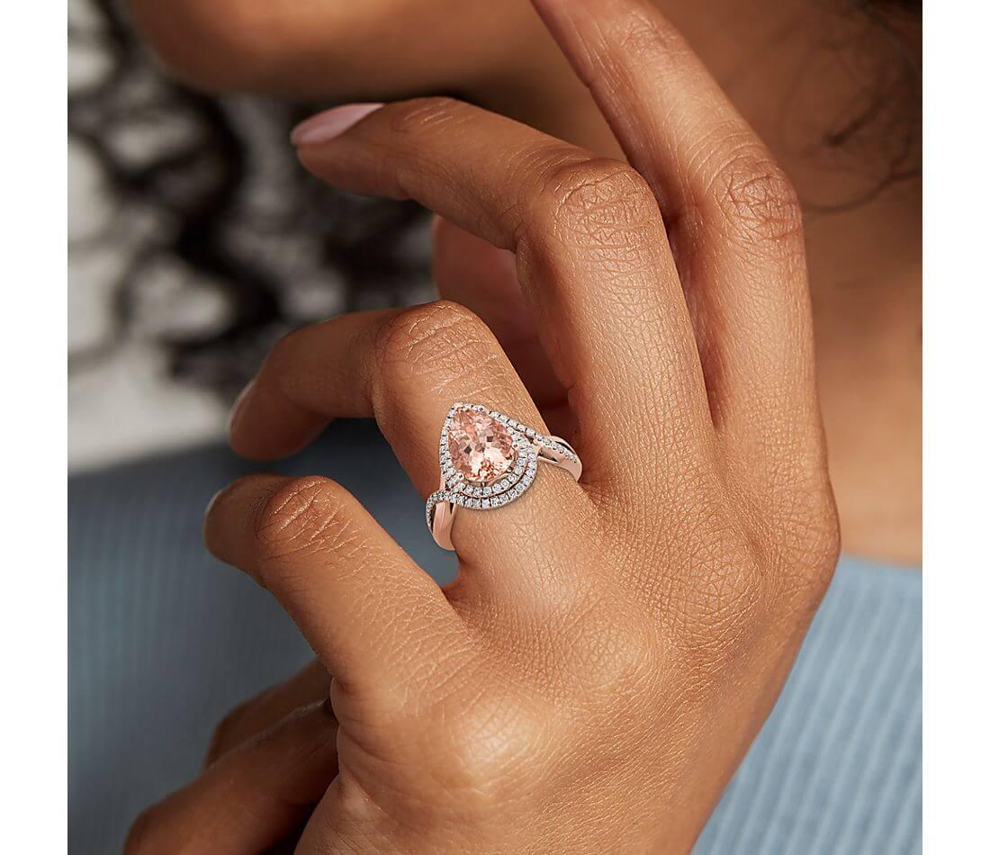 Morganite ring large