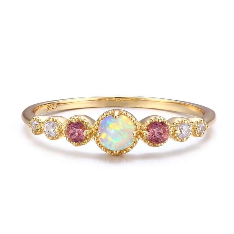 Opal tourmaline ring