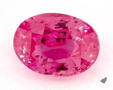 Oval cut pink sapphire