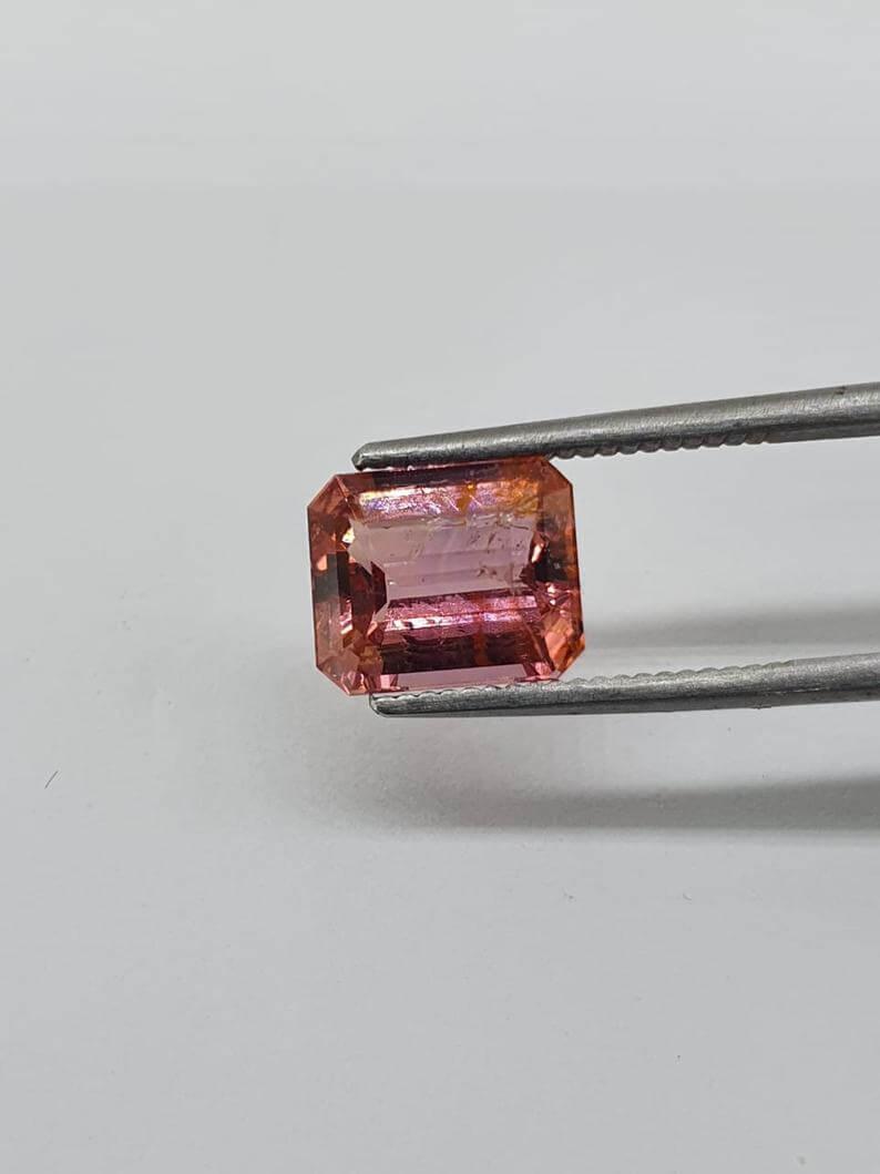 Pink topaz gemstone