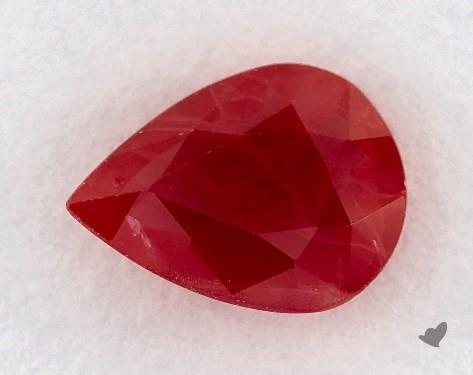 Red ruby gemstone