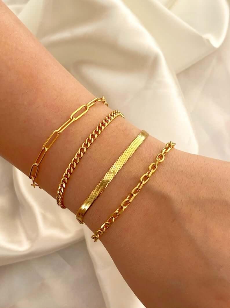 Stylish gold plated jewelry