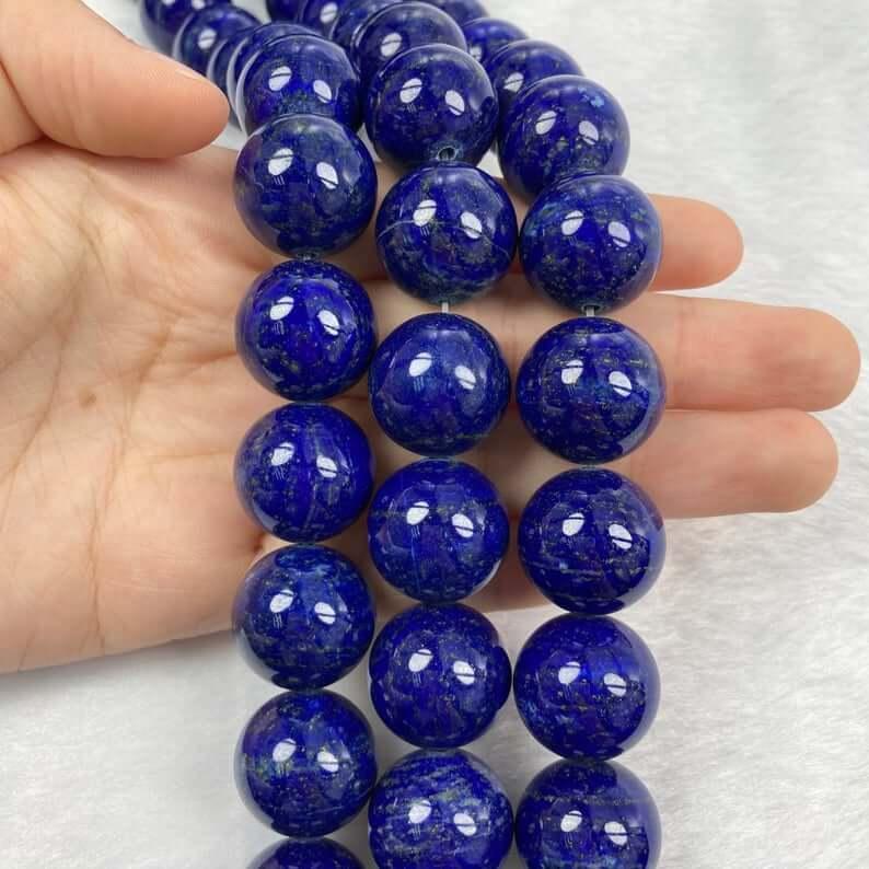 Beaded lapis lazuli