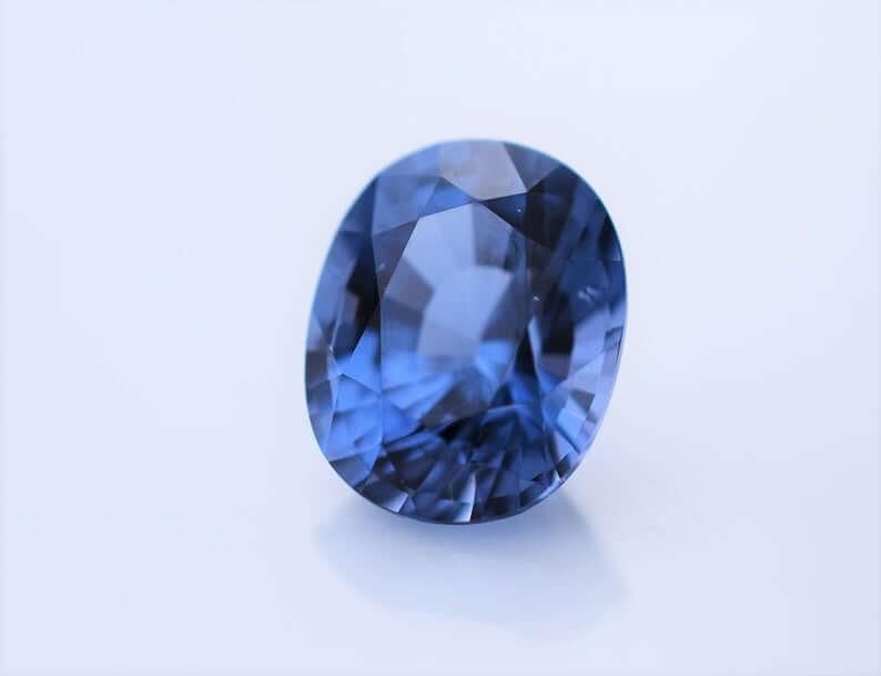 Blue Burmese spinel