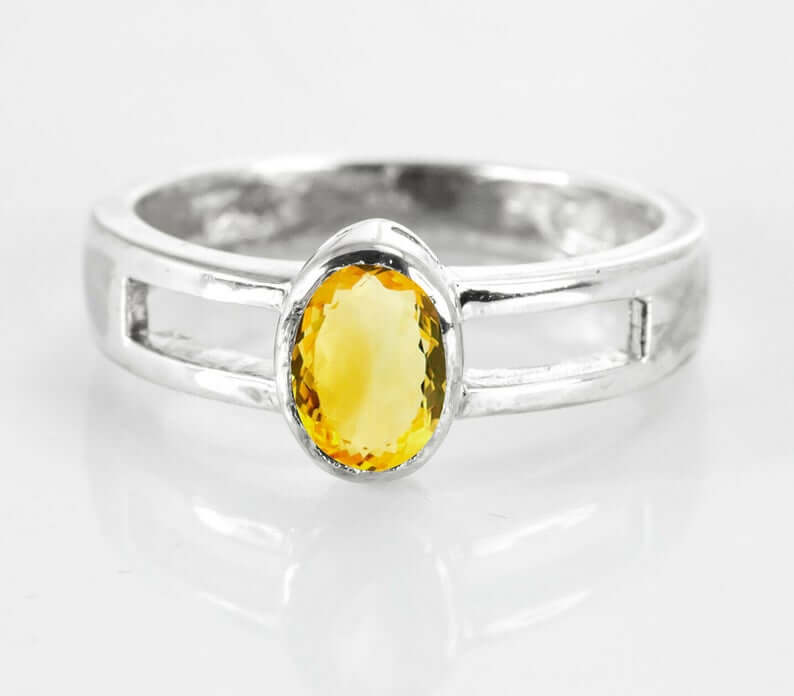 Citrine in bezel setting