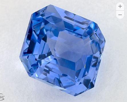 Loose cornflower blue sapphire