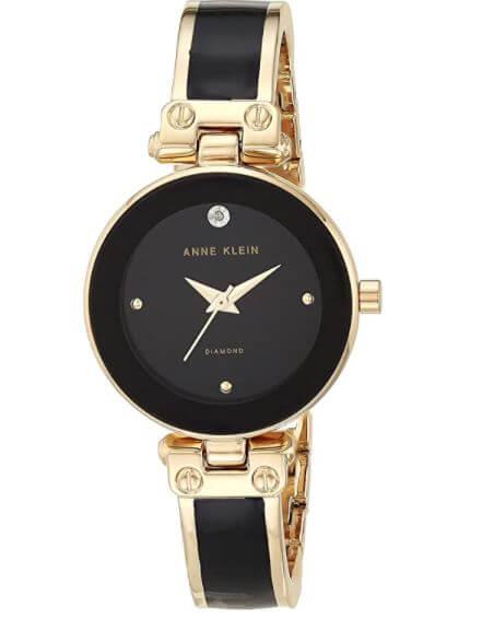 Diamond dial bangle watch