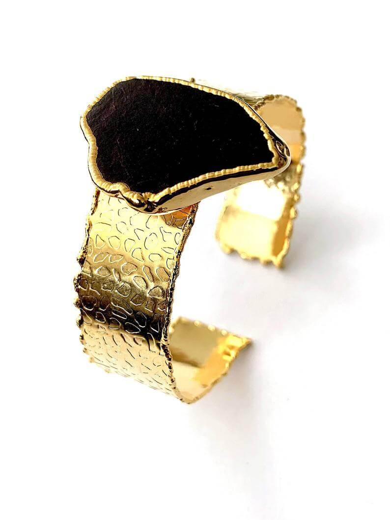 gold cuff agate