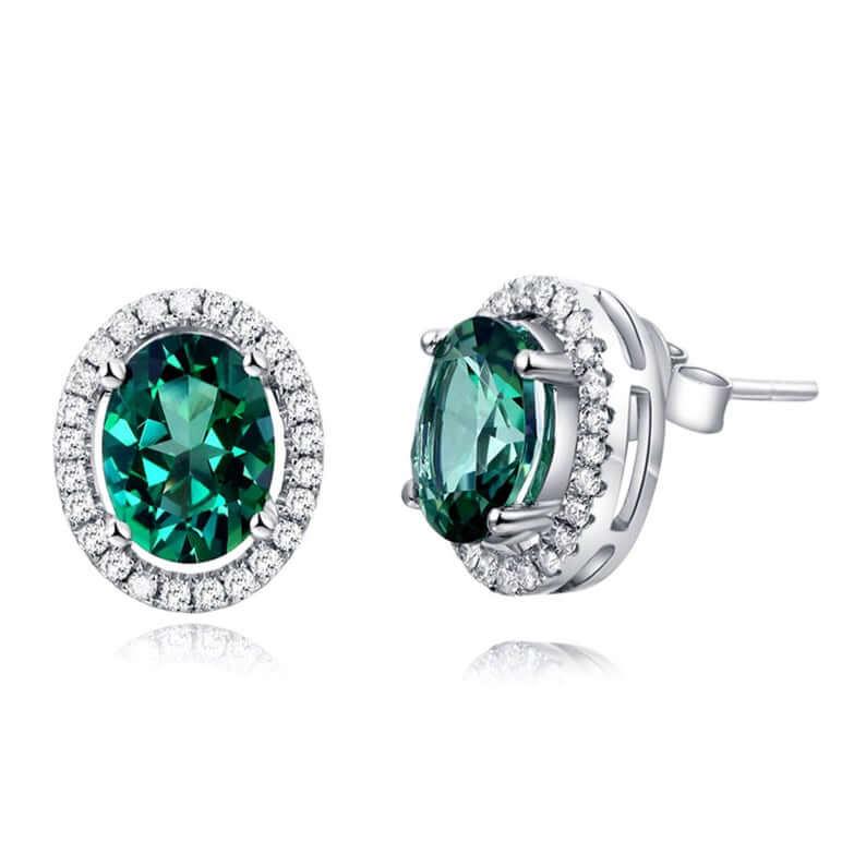 Green topaz earrings