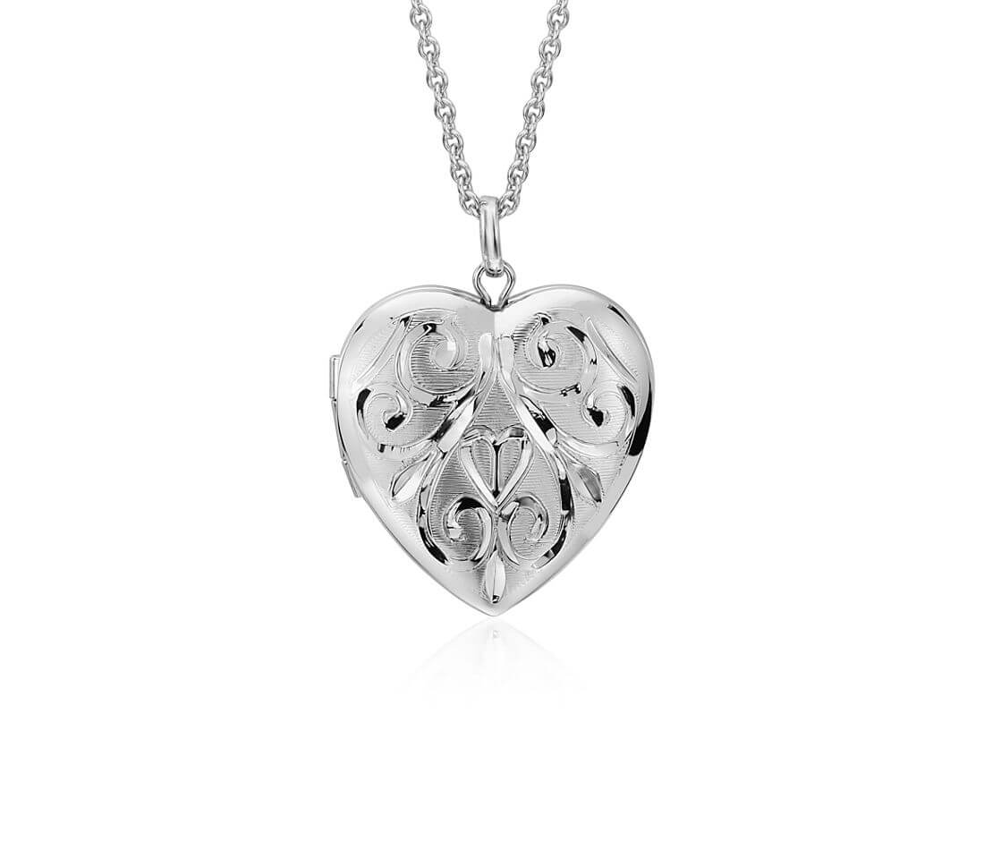 Hand engraved heart locked
