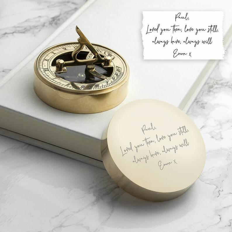 Handwriting gift compass
