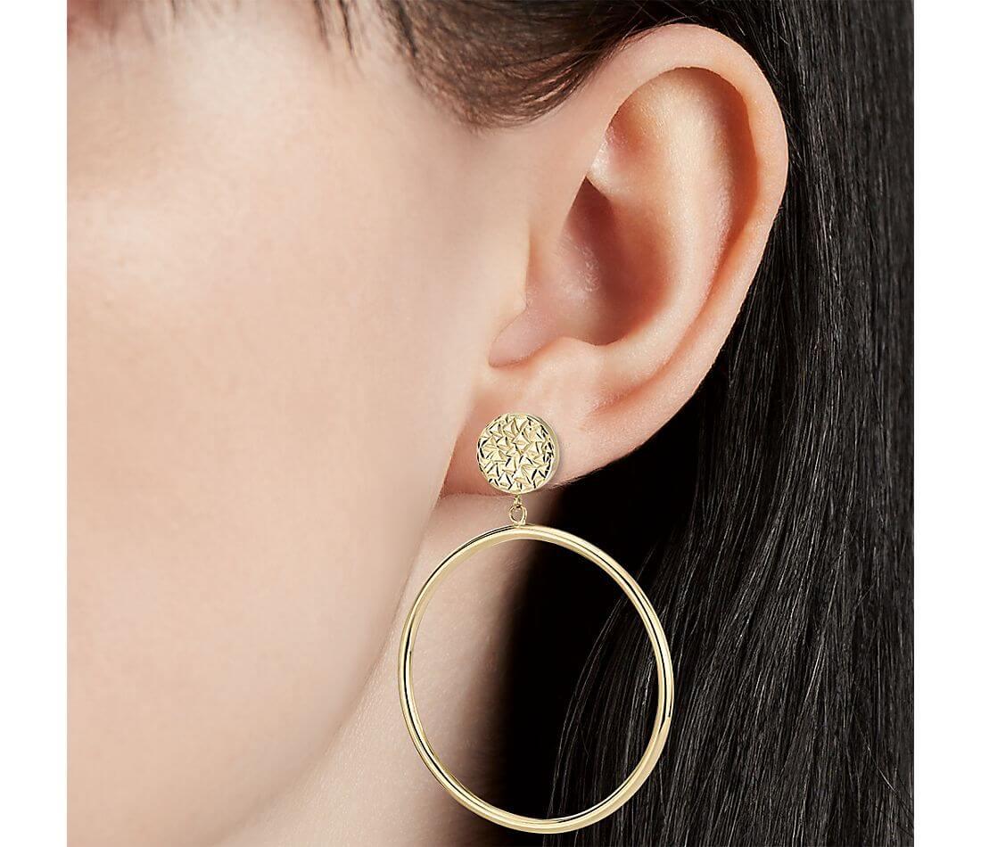 Hoops with stud earrings