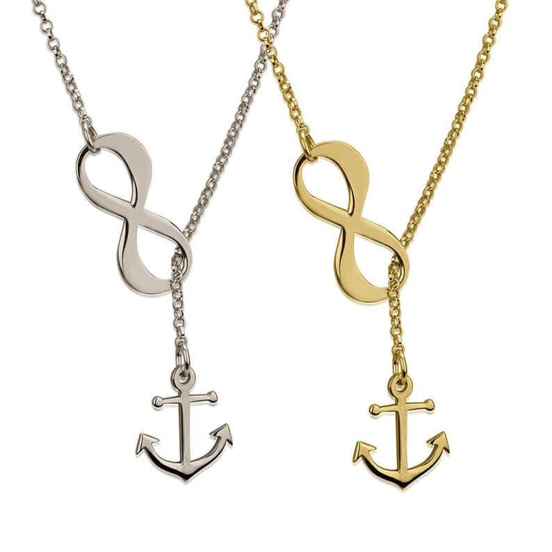 Infinity anchor pendant