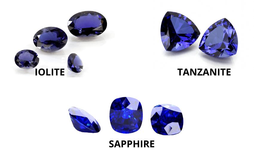 Iolite vs tanzanite vs sapphire