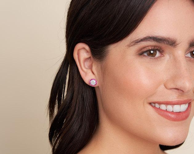 Larger stud earrings