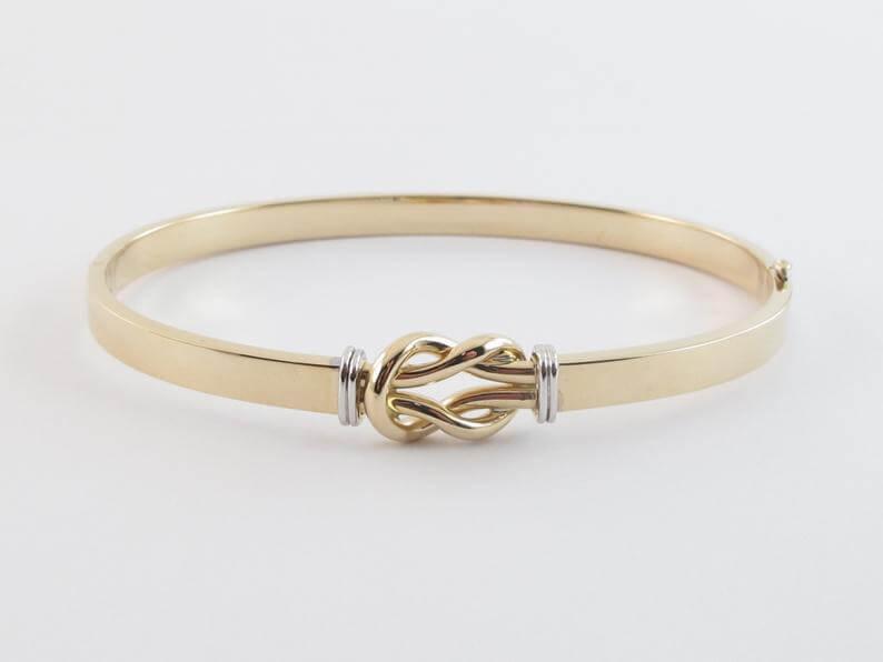 Love knot bangle bracelet
