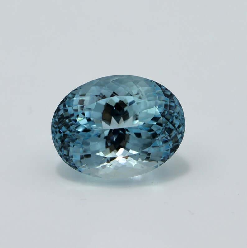 Blue aquamarine oval cut