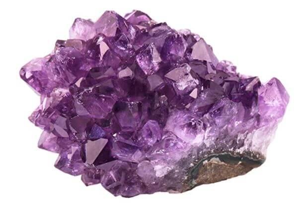 Natural purple amethyst