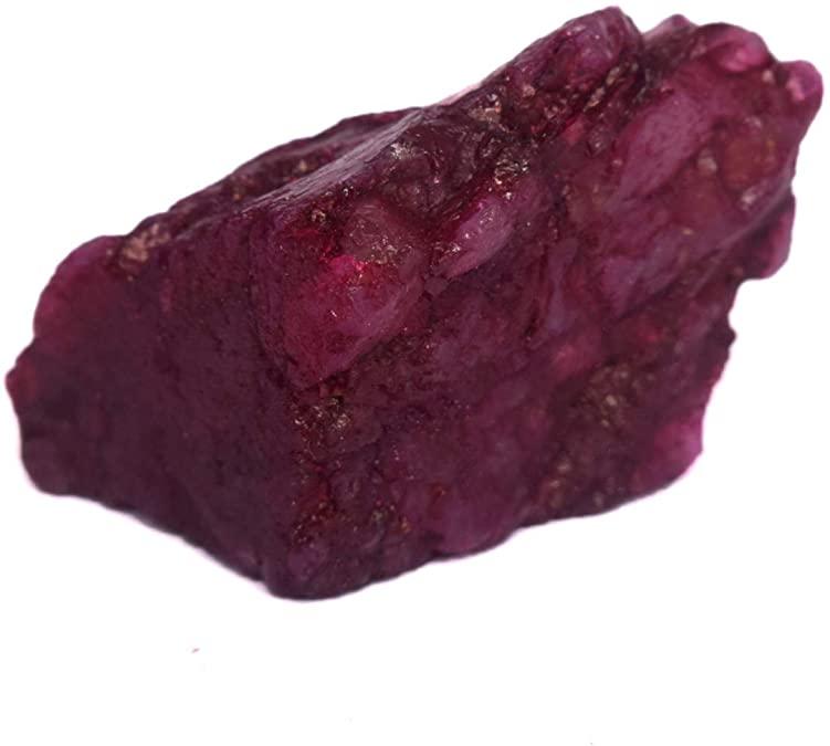 Natural rough ruby gemstone
