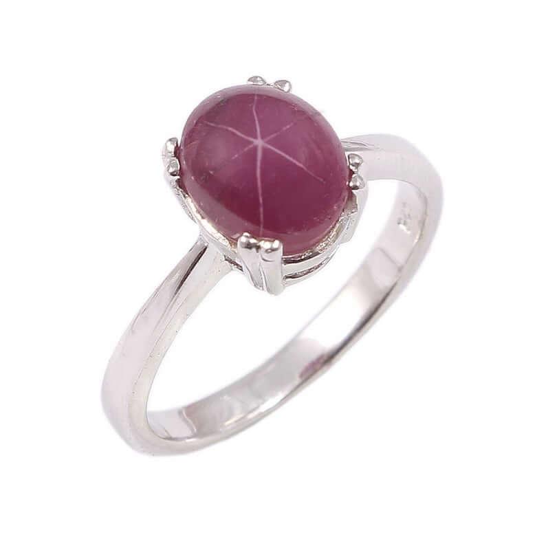 Natural star ruby ring