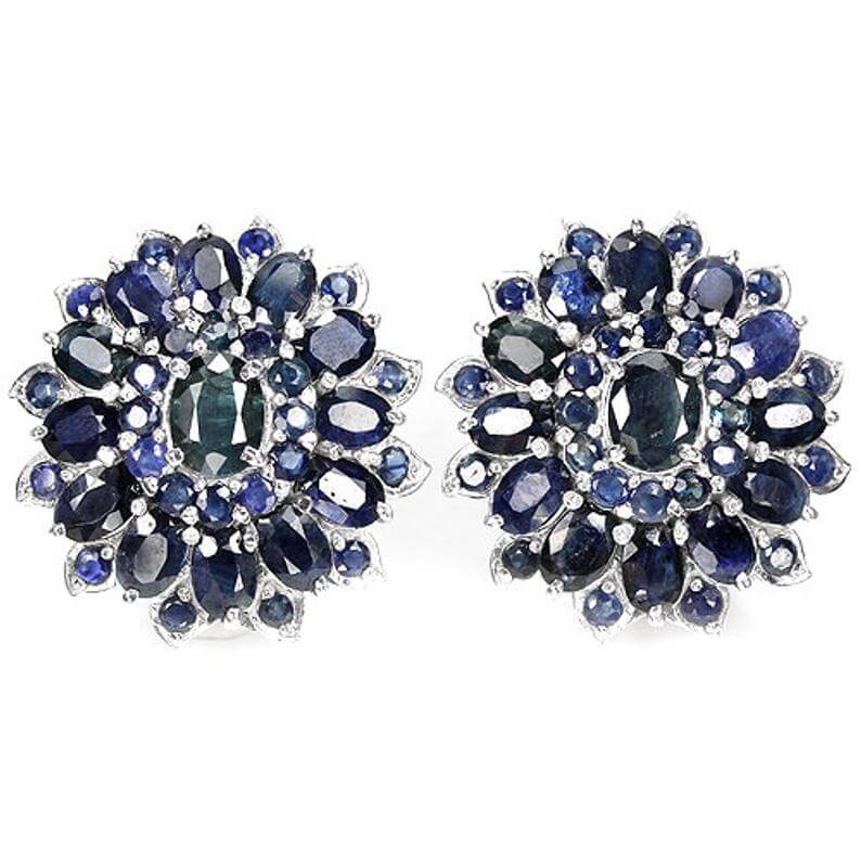 Retro cluster earrings
