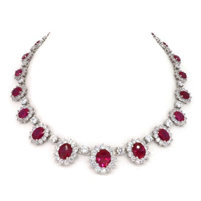 Ruby statement necklace