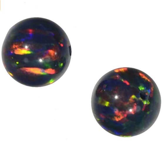 Semiprecious black opals