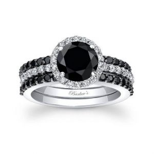 Black Diamond Wedding Ring Set