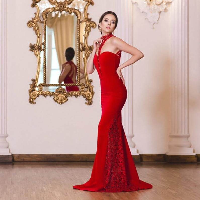 Gorgeous Red Mermaid Gown