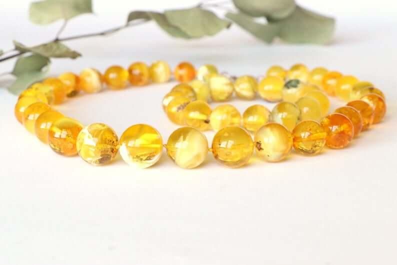Amber necklace and bracelet