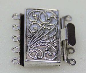 Antique silver box clasp