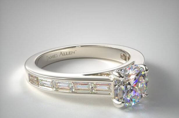 Baguette cut melee diamonds