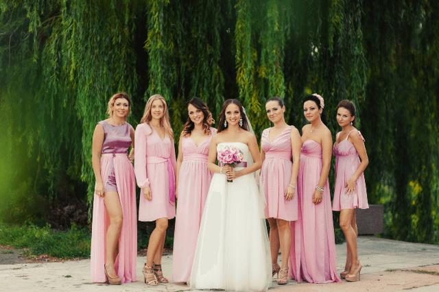 Beautiful mismatched dresses