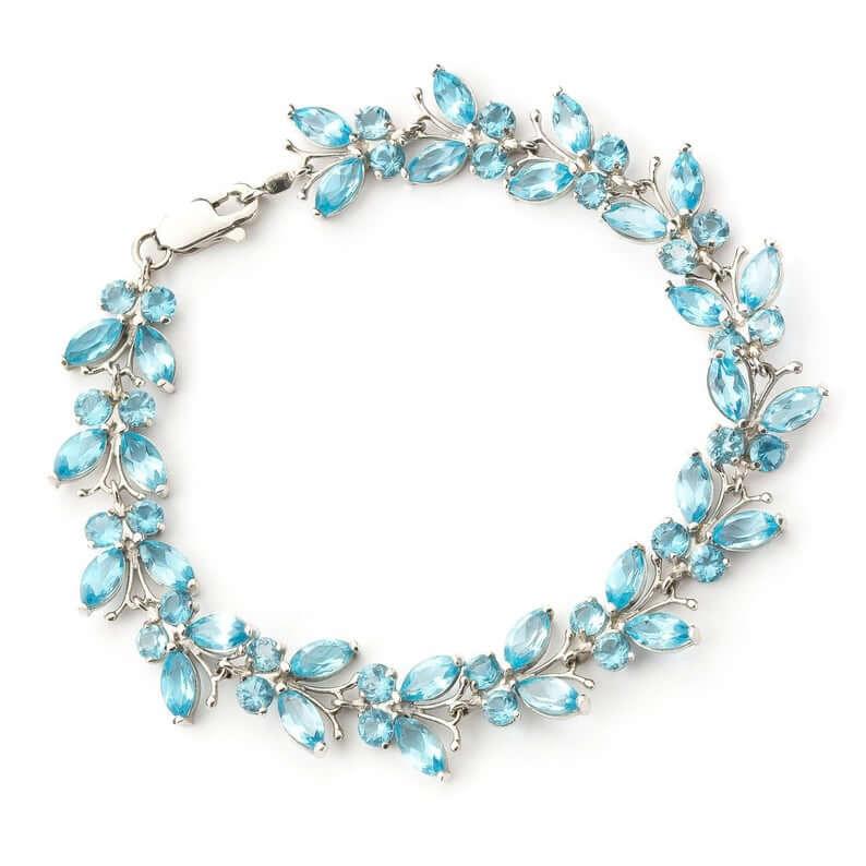 Blue topaz butterfly bracelet