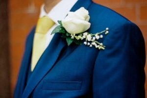 Boutonniere in buttonhole