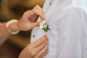 Boutonniere on shirt