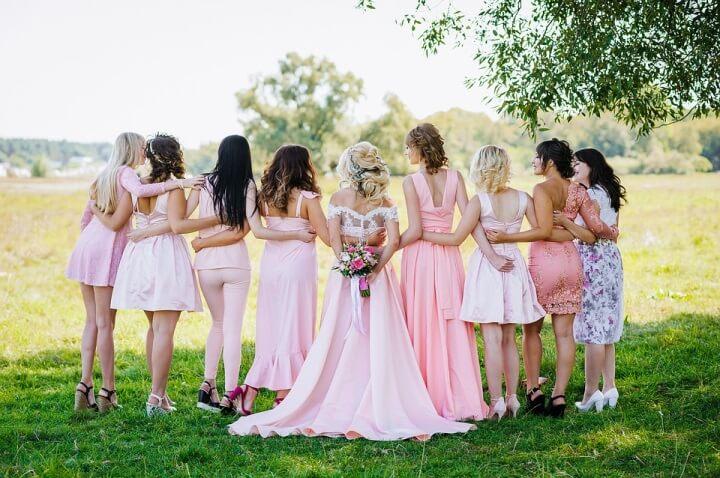 Bridesmaids same theme
