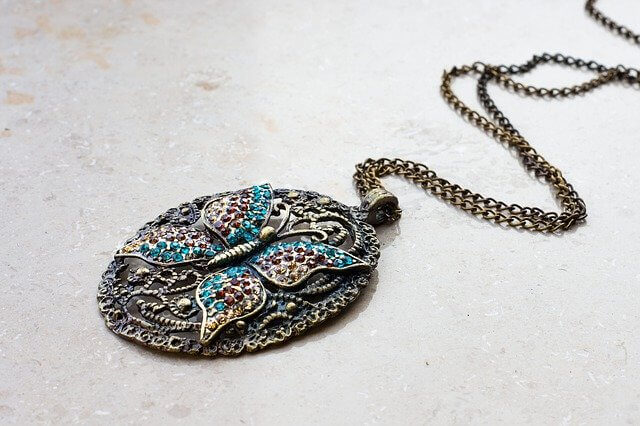 Butterfly necklace and pendant