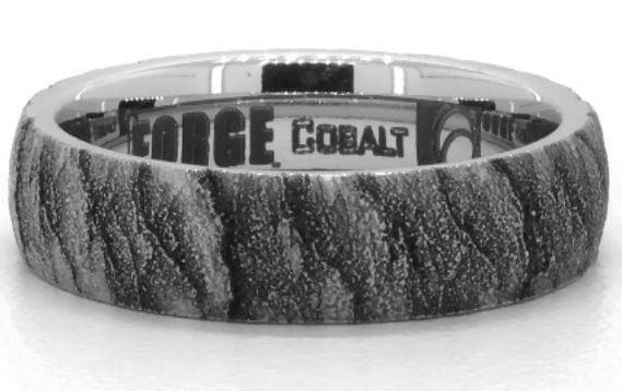 Cobalt lava pattern ring