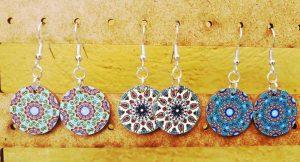 Colorful mandala earrings