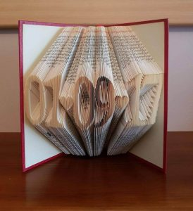 Date folded book art