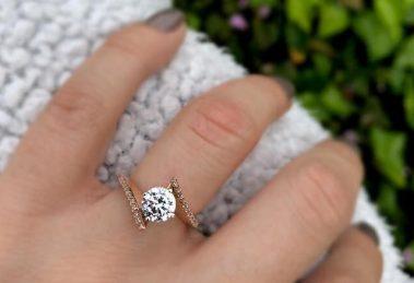 Engagement ring on girl's finger